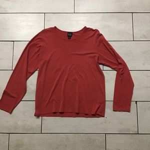 Eileen Fisher Long Sleeve Top In Rust